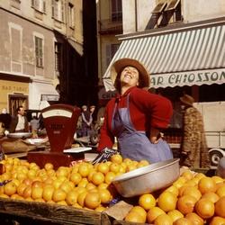 Marktverkoopster in Nice