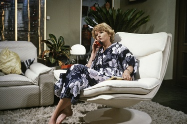 Martine Bijl op de set