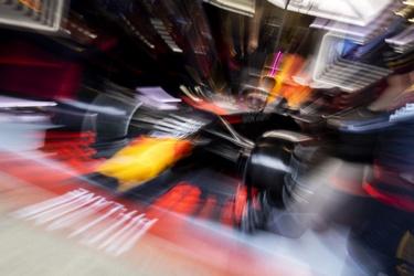 Max Verstappen tijdens F1-race in Barcelona