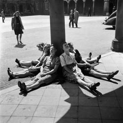 In de zon op het Binnenhof
