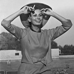 Lachende Sophia Loren