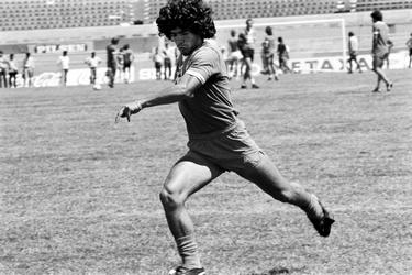 Maradona in actie