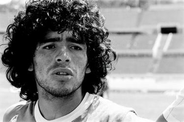 Maradona op het veld