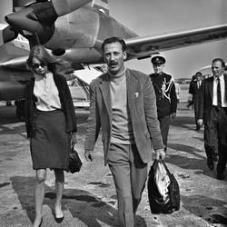 Fotograaf Hans Dukkers met Jean Shrimpton