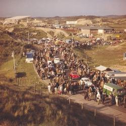 Bezoekers tijdens de Grand Prix in Zandvoort