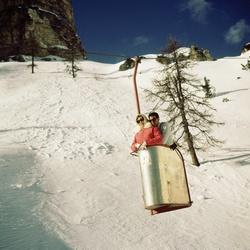 Skiliftbakje op Monte Cristallo