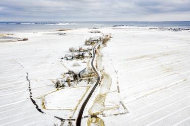 Winters landschap bij Zuiderwoude