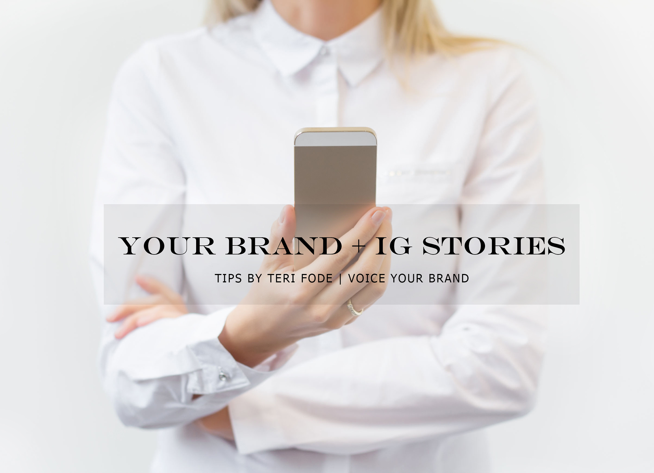 Telling the STORY of your Brand…with STORIES.