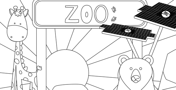 A coloring book featuring cartoon animals.