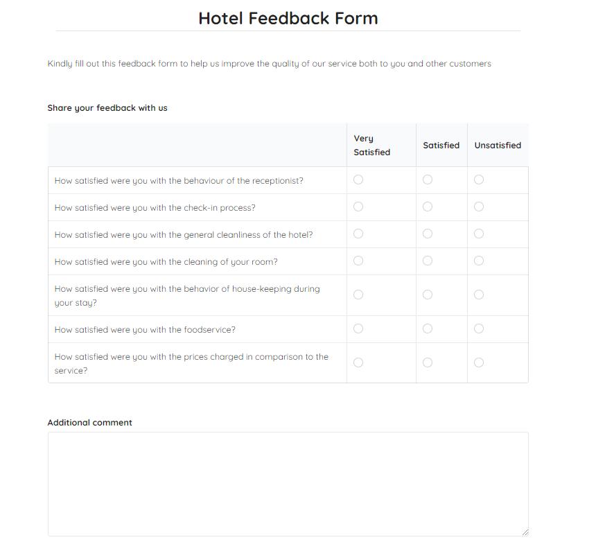 hotel-feedback-form