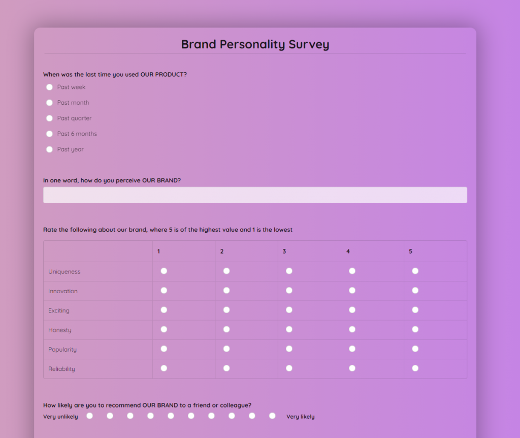 brand-personality-survey