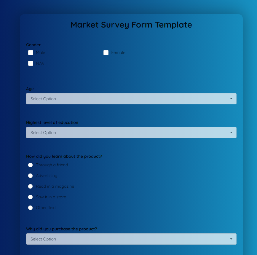 market-survey-template