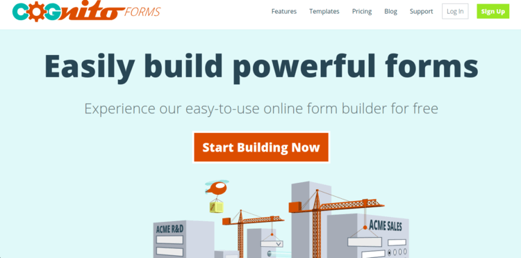 Cognito-Forms-Home-page-Formplus-Top-Online-Form-Builders
