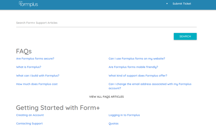 Formplus-Support-Page