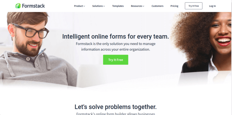 Formstack-Home-page-Formplus-Top-Online-Form-Builders