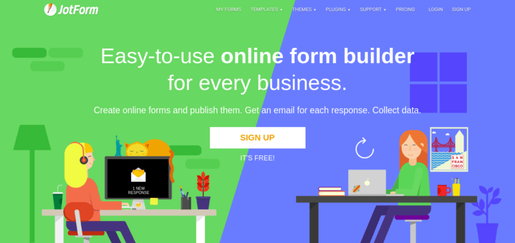 Jotform-Home-page-Formplus-Top-Online-Form-Builders