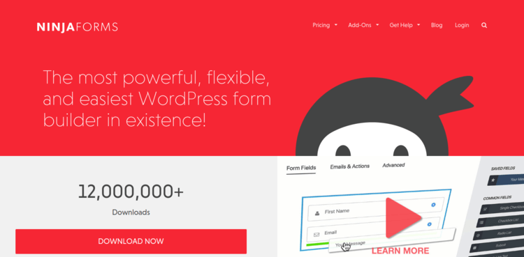 Ninja-Forms-Home-page-Formplus-Top-Online-Form-Builders