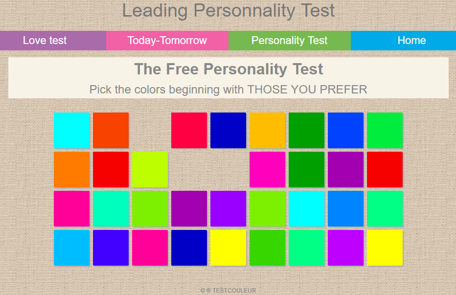 Work personality test