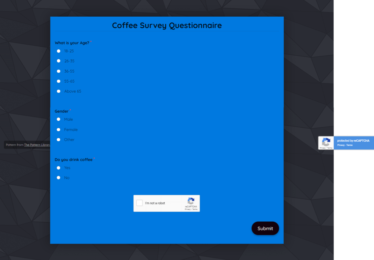 Coffee Survey Questionnaire Template template