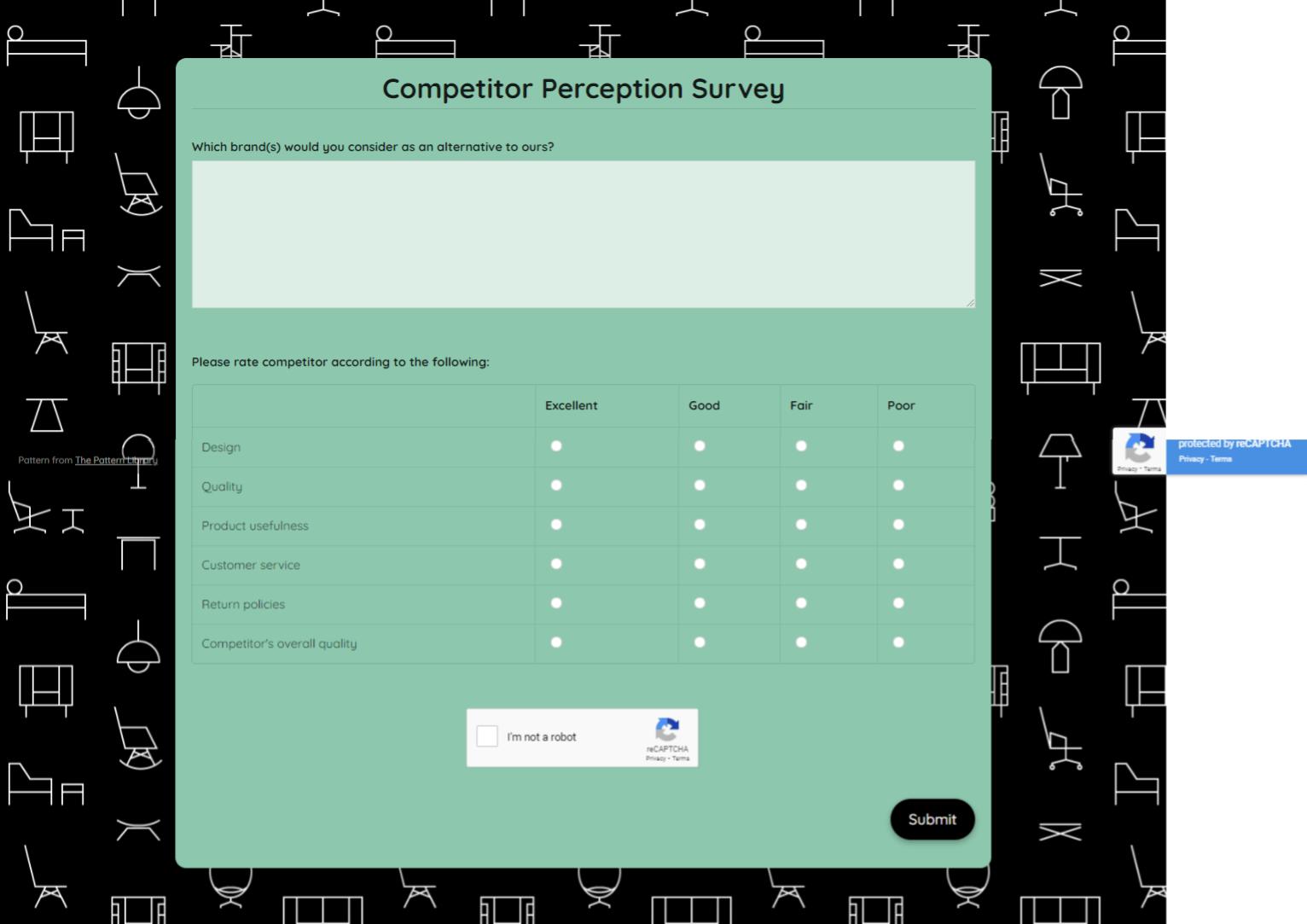 Competitor Perception Survey Template template
