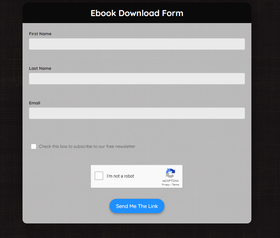 Ebook Download Form Template template