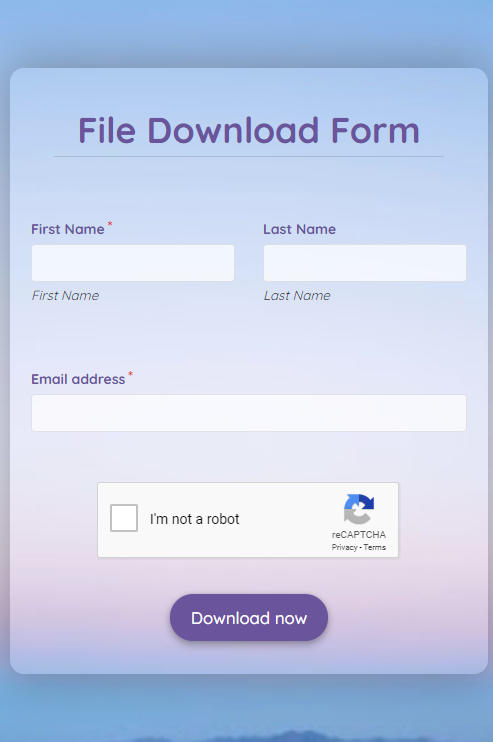 File Download Form Template template