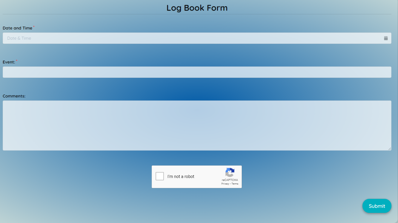 Log Book Form Template template
