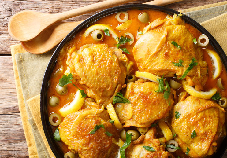 Chicken that Fancies Itself Spanish