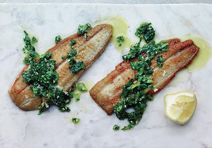Spanish Cod with Celery Salsa Verde