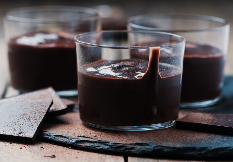 Olive Oil Dark Chocolate Mousse