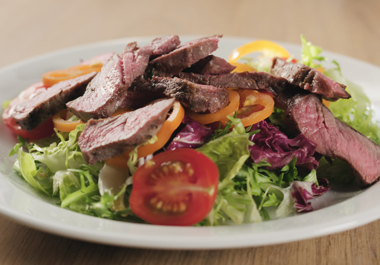 Steak Salad with Romesco Dressing