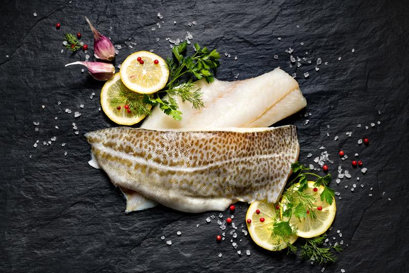 Spanish Cod with Celery Salsa Verde