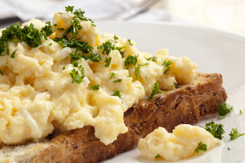 Scrambled Eggs with Sumac and Pine Nuts