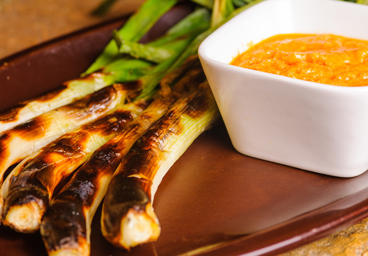 Grilled Spring Onions with Romesco (Calçots)