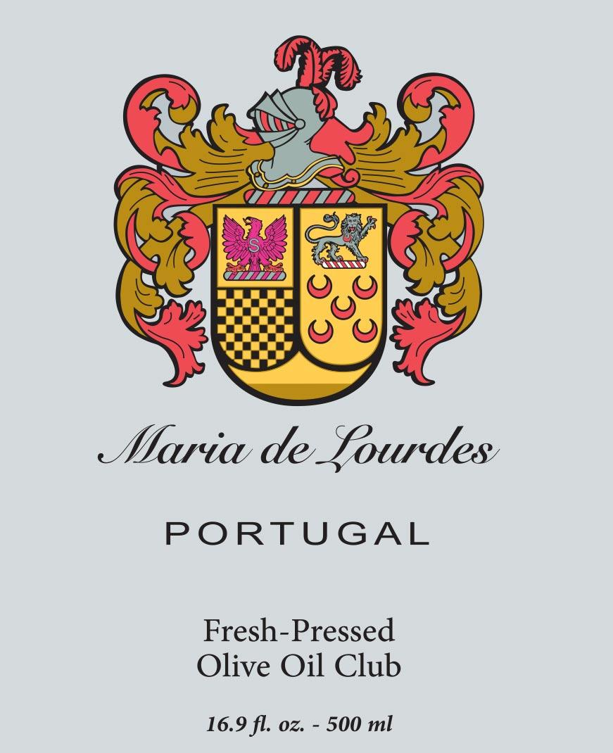 Maria de Lourdes, Filipe de Albuquerque Madeira, Trás-os-Montes e Alto Douro, Portugal Olive Oil Label
