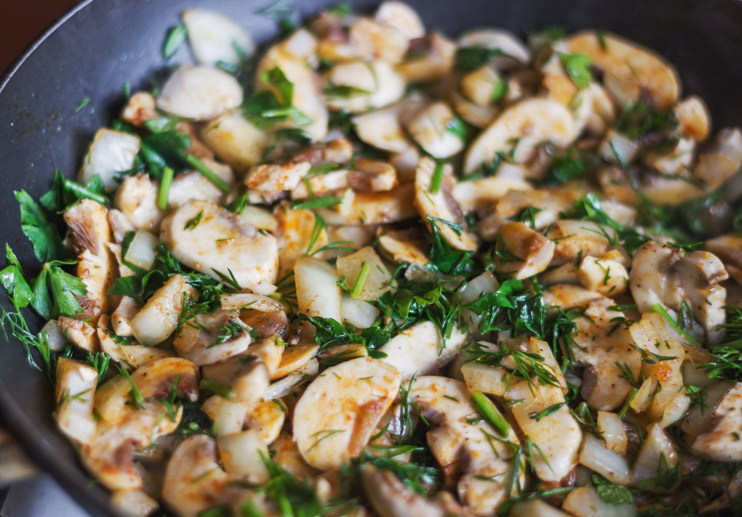 Mushrooms in Garlic Sauce