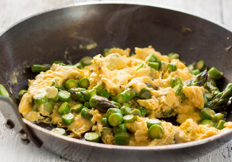 Scrambled Eggs with Asparagus (Revuelto de Espãrragos)