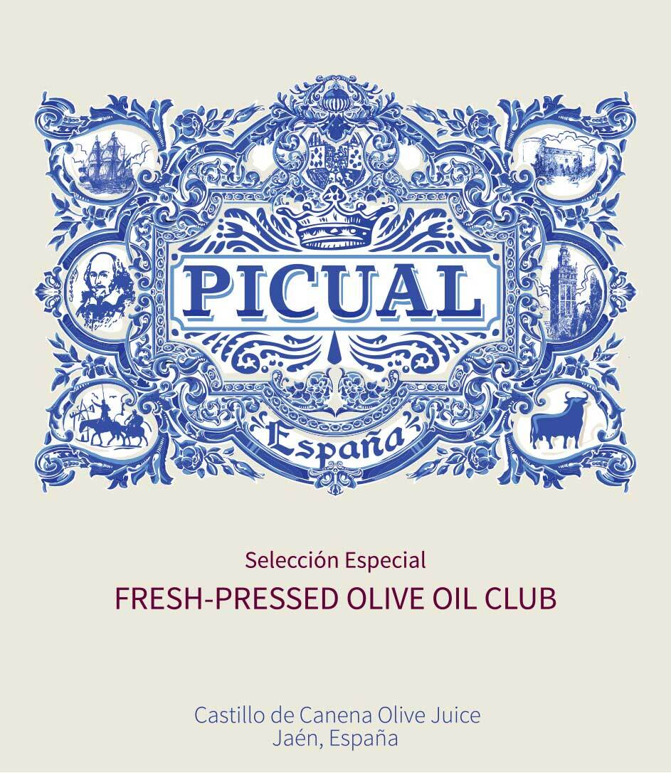 Castillo de Canen Fresh Pressed Olive Oil Label