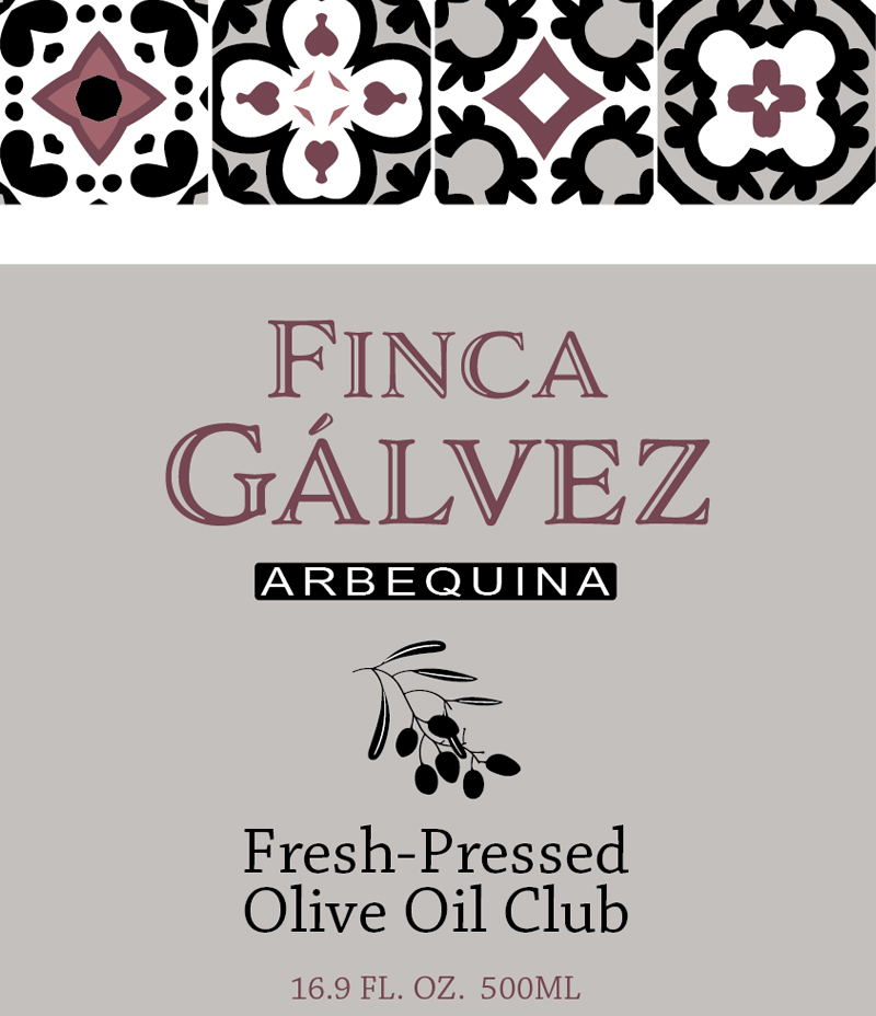 Finca Galvez Fresh Pressed Olive Oil Label