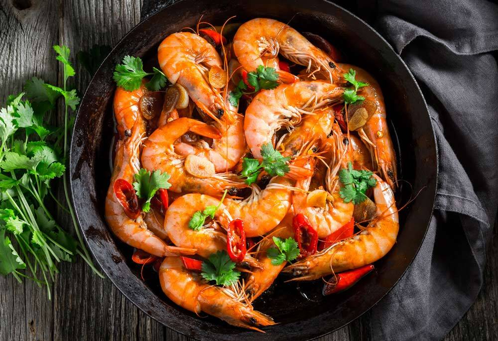Garlicky Shrimp Sauté