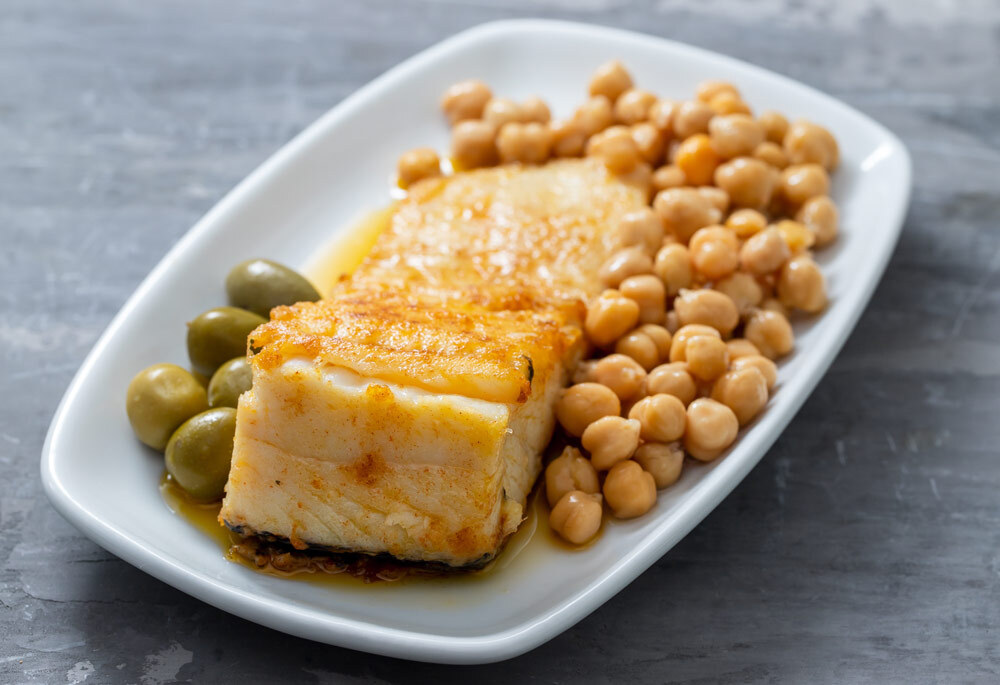 Mark Bittman's Spanish Cod with Chickpeas and Sherry