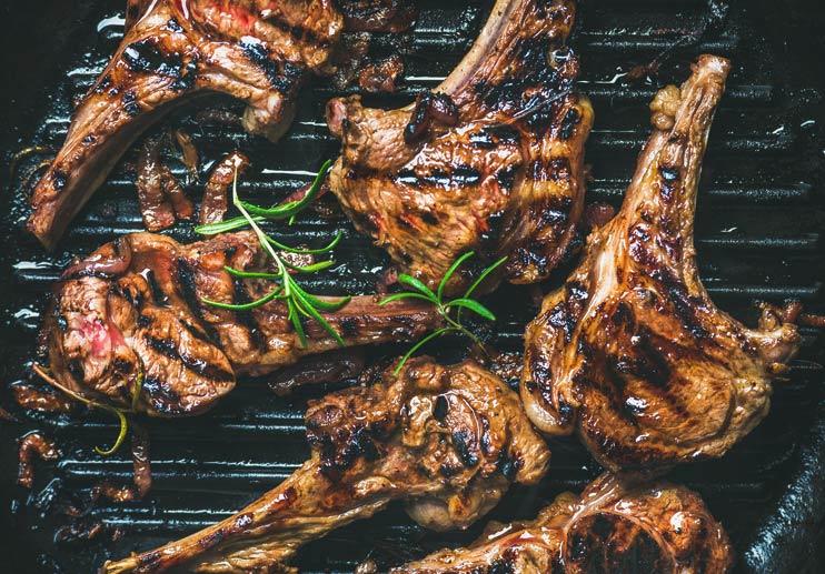 Grilled Rib Lamb Chops (Chuletas de Cordero)
