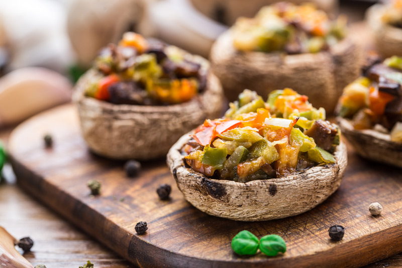 Portobello Mushrooms with Chipotle Guacamole