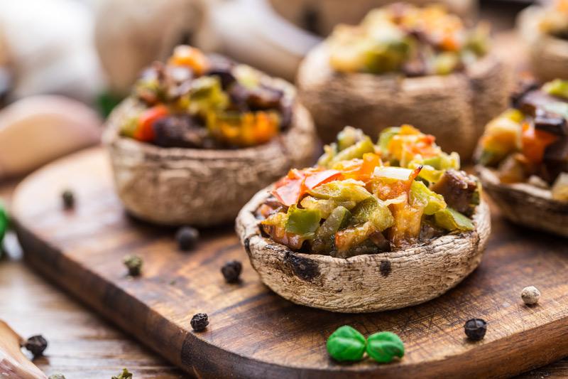 Portobello Mushrooms with Chipotle Guacamole