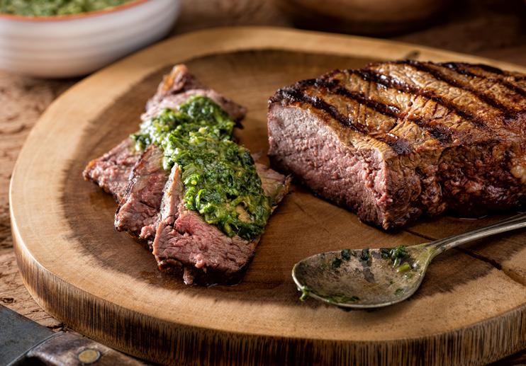 Grilled Flank Steak with Salsa Verde