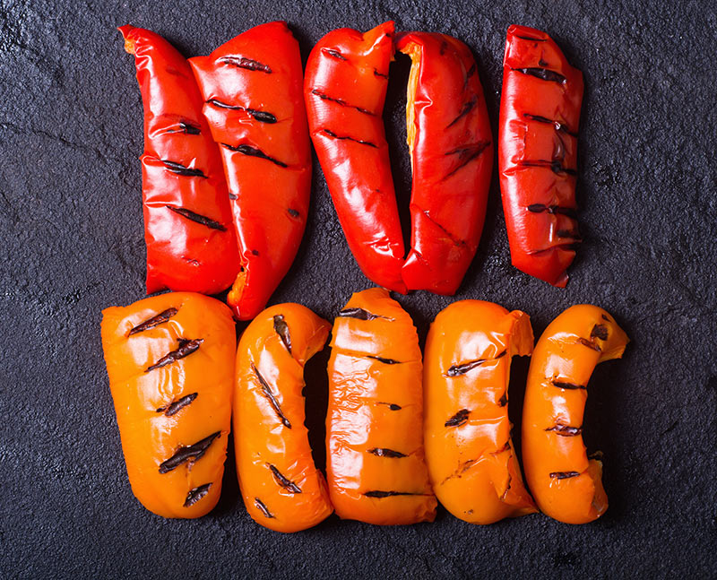 Roasted Peppers with Parmesan Breadcrumbs