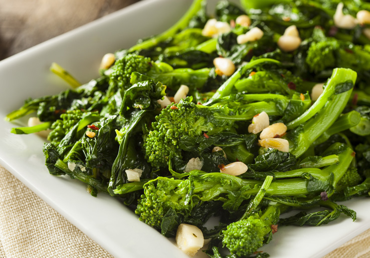 Broccoli Rabe with Chile and Garlic
