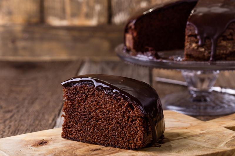 Olive Oil Chocolate Cake with Chocolate Ganache
