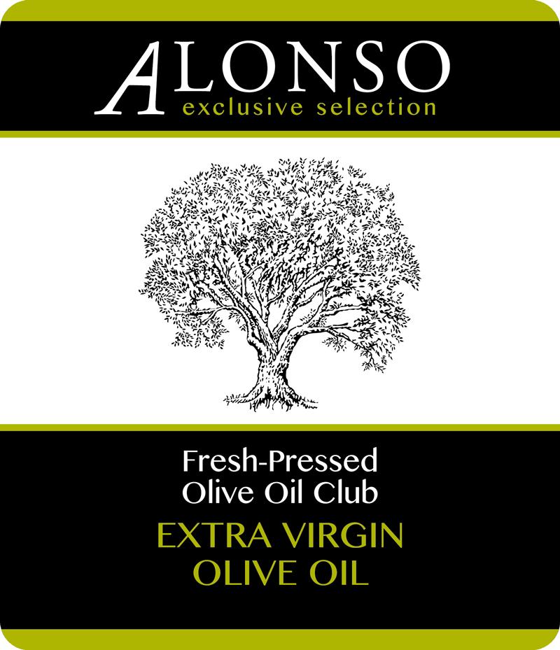 Alonso Fresh-Pressed Olive Oil label