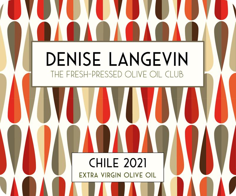 Denise Langevin Fresh Pressed Olive Oil Label